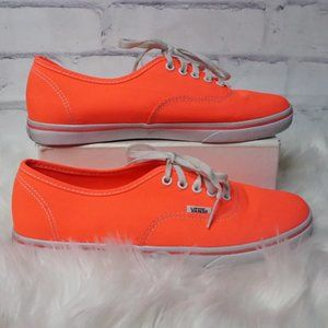 Vans Neon Fire Coral Low Casual Lace Up Sneakers